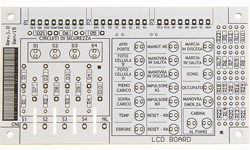 circuito stampato bianco